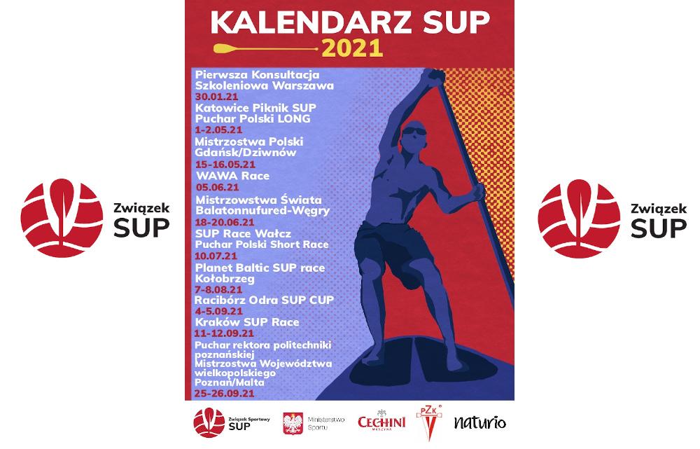 Kalendarz zmagań współorganizowanych przez Związek SUP na 2021